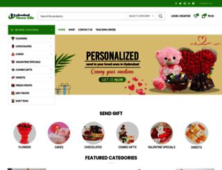 hyderabadflowergifts.com screenshot