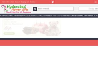 hyderabadflowersandgifts.com screenshot