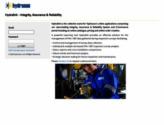 hydralink.hydrasun.com screenshot