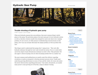 hydraulicgearpump.wordpress.com screenshot