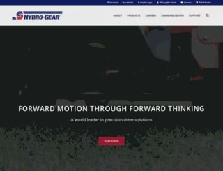 hydro-gear.com screenshot