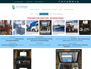 hydrogenfuelsystems.com.au screenshot