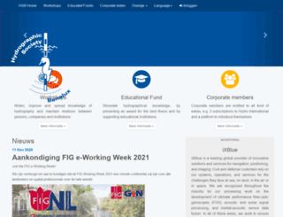 hydrographicsocietybenelux.eu screenshot