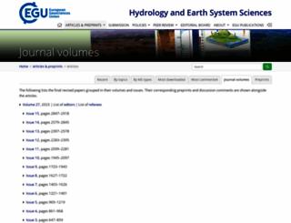 hydrol-earth-syst-sci.net screenshot