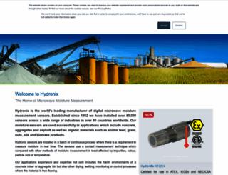 hydronix.com screenshot