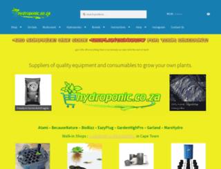 hydroponic.co.za screenshot