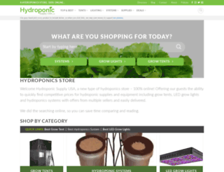 hydroponicsupplyusa.com screenshot
