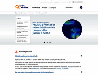 hydroquebec.com screenshot