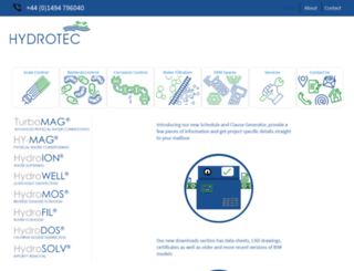hydrotec.co.uk screenshot