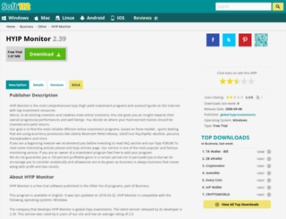hyip-monitor.soft112.com screenshot