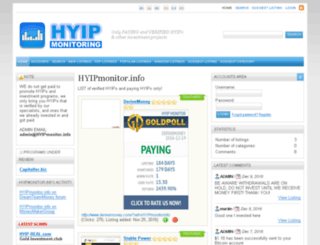 hyipmonitor.info screenshot