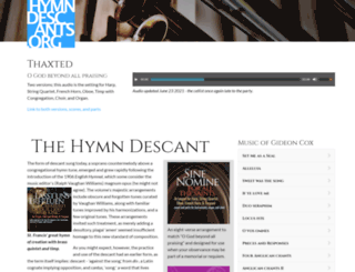 hymndescants.org screenshot