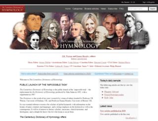 hymnology.hymnsam.co.uk screenshot