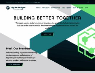 hyperledger.org screenshot