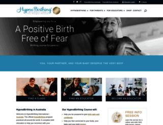 hypnobirthing.com.au screenshot