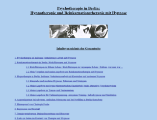 hypnotherapie-reinkarnationstherapie.de screenshot