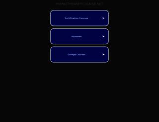 hypnotherapycourse.net screenshot