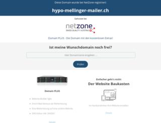 hypo-mellinger-mailer.ch screenshot