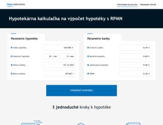 hypotekarnakalkulacka.sk screenshot