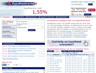 hypotheekrenteoverzicht.nl screenshot