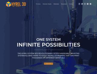 hyrel3d.com screenshot