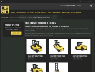hyster-bigtrucks.com screenshot