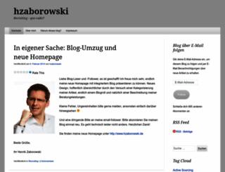hzaborowski.wordpress.com screenshot
