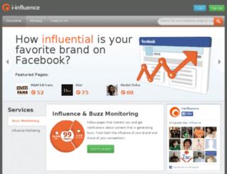 i-influence.com screenshot