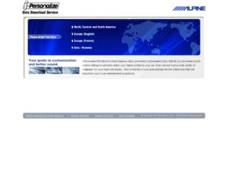 i-personalize.alpine.com screenshot