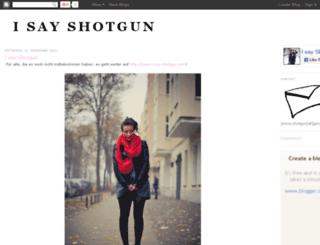 i-say-shotgun.blogspot.com screenshot