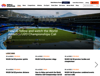 iaaf.org screenshot
