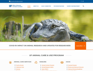 iacuc.ufl.edu screenshot