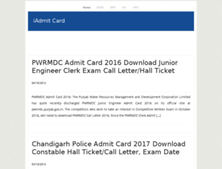 iadmitcard.com screenshot