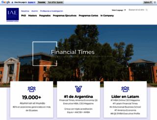 iae.edu.ar screenshot