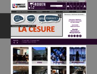 iae.univ-rouen.fr screenshot