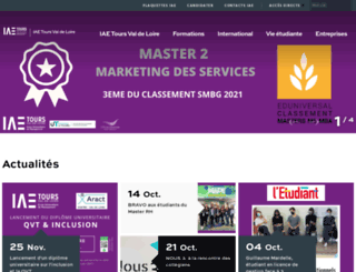 iae.univ-tours.fr screenshot