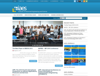 iaesjournal.com screenshot