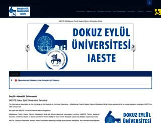 iaeste.deu.edu.tr screenshot