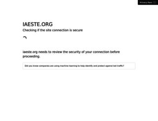 iaeste.org screenshot