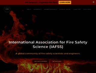 iafss.org screenshot