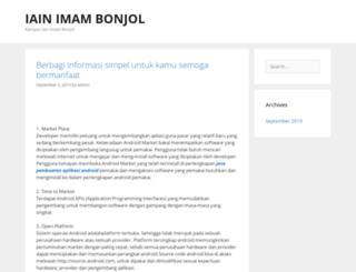 iainimambonjol.ac.id screenshot