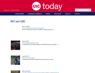 iam.uic.edu screenshot