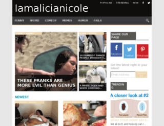 iamalicianicole.com screenshot