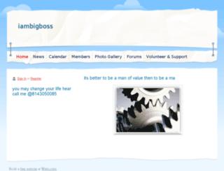 iambigboss.webs.com screenshot