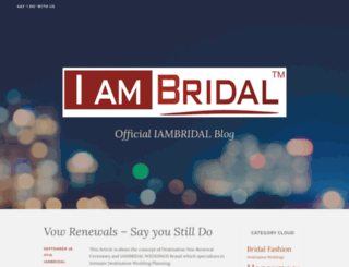 iambridal.wordpress.com screenshot