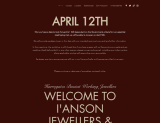 iansonjewellers.co.uk screenshot