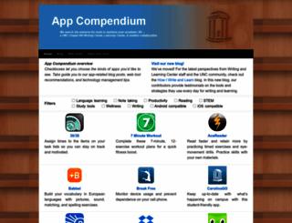 iapps.web.unc.edu screenshot