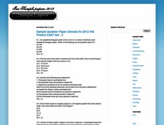 ias-sample-papers.blogspot.in screenshot