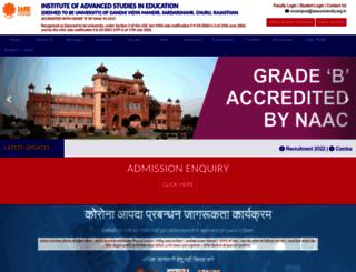 iaseuniversity.org.in screenshot