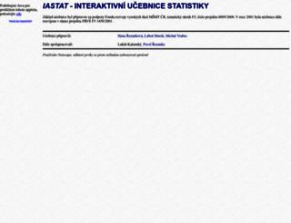 iastat.vse.cz screenshot
